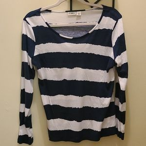 Cato Blue and White Top